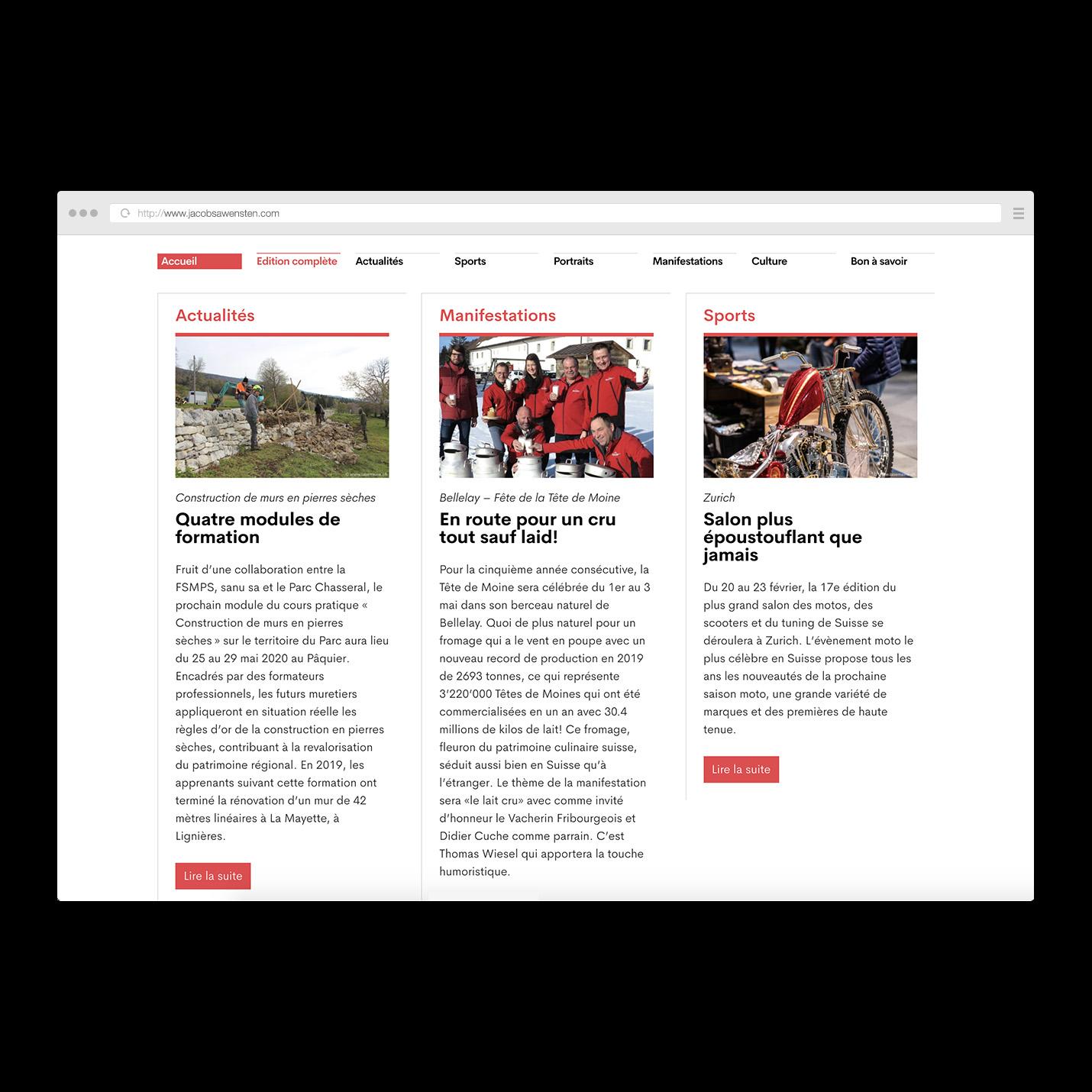 La Semaine site web